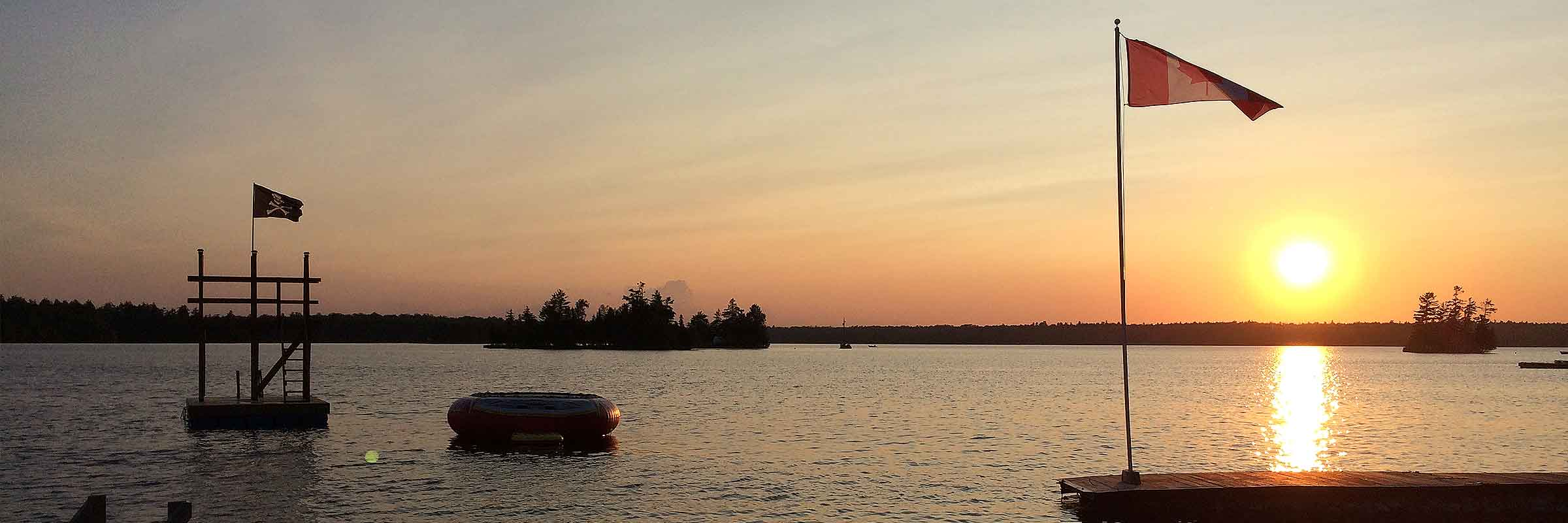 sunset on Pickerel Bay, White Lake